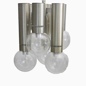 Lámpara de araña de aluminio, años 60