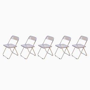 Plia Stühle von Giancarlo Piretti für Castelli, 5er Set