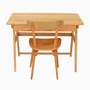 Bureau & Chaise Vintage par Jacob Müller pour Wohnhilfe