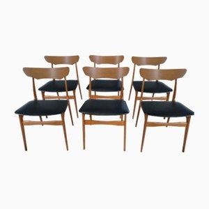 Dänische Teak Esszimmerstühle von Schionning Elgaard für Randers, 1960er, 6er Set