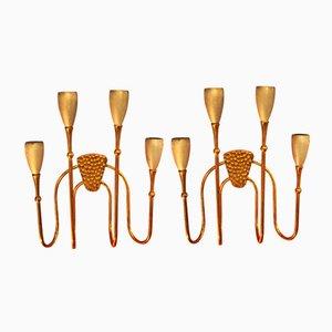 4-Leuchten Wandlampen, 1950er, 2er Set