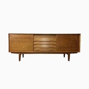 Oak & Teak Sideboard by Henry Rosengren Hansen for Skovby, 1960s