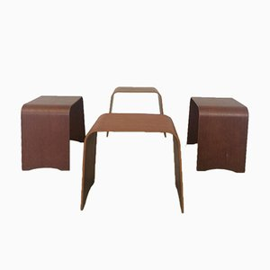 Model 4515 Stools by Hans Ludvigsen for Fritz Hansen, 1960s, Set of 4