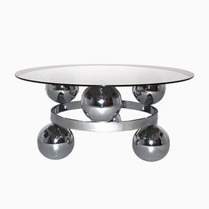 Chrome Sputnik Coffee Table, 1970s