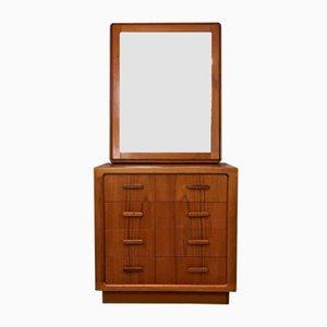 Danish Teak Dresser & Mirror, 1970s