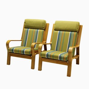 Vintage Model GE671 Easy Chairs by Hans J. Wegner for Getama, Set of 2