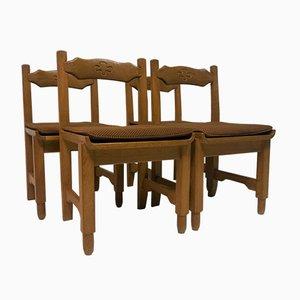 Vintage Stühle aus Eiche von Guillerme & Chambron für Votre Maison, 4er Set
