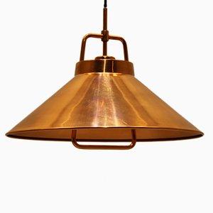 Lámpara colgante de cobre de Fritz Schlegel para Lyfa, años 60