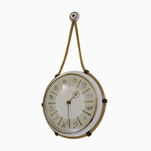 Orologio con segni dello zodiaco di Henry Johannes Möller per Kienzle International, anni '50