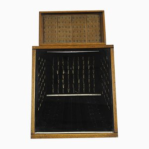 Antique British Jewel Display Case in Oak