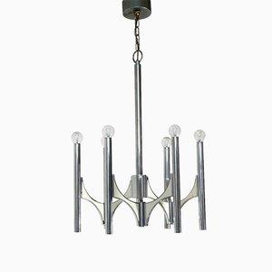 Lámpara de araña con seis luces de Sciolari, años 70