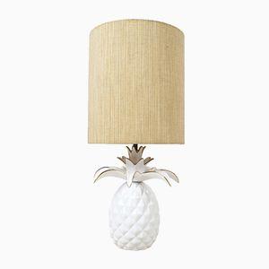 Lampada vintage a forma di ananas in ceramica, Francia