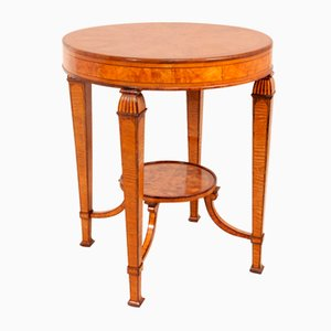 Art Deco Walnut and Rosewood Veneer Side Table, 1920s