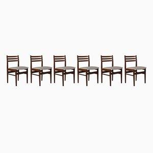Dänische Palisander Esszimmerstühle, 1960er, 6er Set