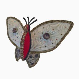 Dänische Mid-Century Schmetterling Wandleuchte, 1970er
