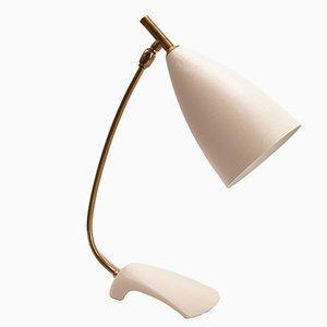 Lampe de Bureau Mid-Century Blanche