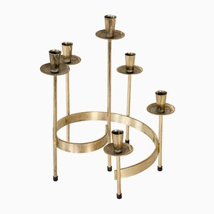 Dänischer Vintage Messing Kerzenständer