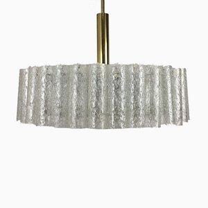 Brass & Glass Chandelier from Doria, 1960s