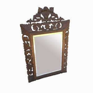 Espejo de madera tallada, siglo XVIII