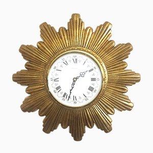 Horloge en Forme de Soleil Vintage, 1960s