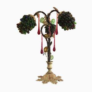 Weintrauben Tischlampe, 1950er