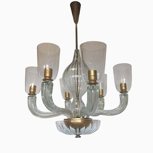 Lámpara de techo vintage de Carlo Scarpa para Venini, 1940
