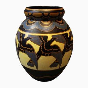 Jarrón de cerámica de Charles Catteau, años 30