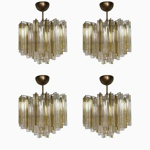 Trilobo Ceiling Lights from Venini, 1960s, Set of 4