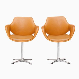 Swivel Chairs from Mobilier Modulaire Moderne, 1970s, Set of 2