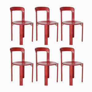 Vintage Red Dining Chairs by Bruno Rey for Kusch & Co, Set of 6