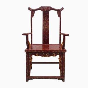 Chinesische Vintage Armlehnstühle, 4er Set