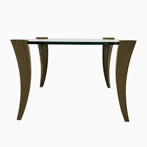 Brutalist Bronze Coffee Table by Peter Ghyczy, 1970s