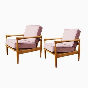 Mid-Century Armchairs by Erik Wörtz, Set of 2