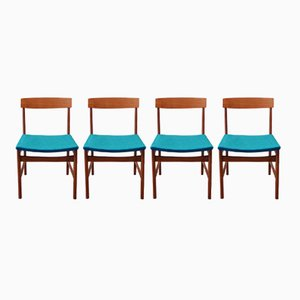 Mid-Century Teak Chairs, Set of 4