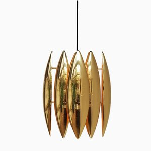 Brass Kastor Pendant by Jo Hammerborg for Fog Morup, 1960s