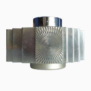 Lámpara de mesa brutalista de aluminio de Sarome, años 60