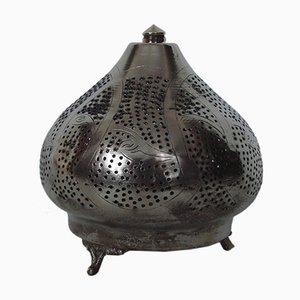 Lámpara de mesa de acero niquelado, años 60