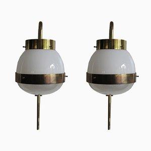 Model Delta Wall Lamps by Sergio Mazza for Artemide, 1960s