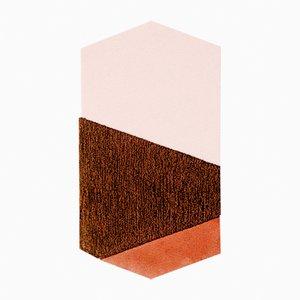 Tappeto medio Oci LF arancione/marrone di Seraina Lareida per Portego