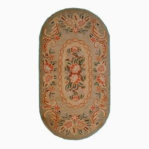 Handgeknüpfter Amerikanischer Ovaler Teppich, 1930er