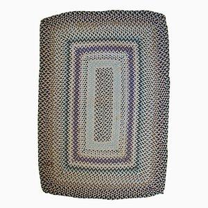 Handmade American Braided Rug, 1960s