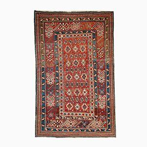 Antique Handmade Caucasan Chichi Rug, 1880s