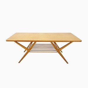 Tavolino da caffè Mid-Century in legno di betulla