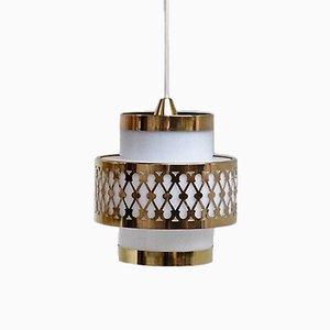 Lámpara colgante blanca de Bent Karlby para Lyfa, años 60