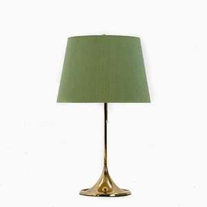 Mid-Century B-024 Table Lamp with Green Shade from Bergboms