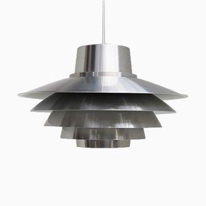Lámpara colgante Verona de aluminio de Sven Middelboe para Nordisk Solar, años 80