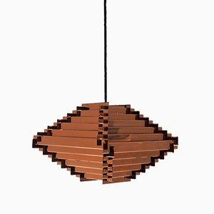 Lámpara colgante sueca vintage de cobre, años 60