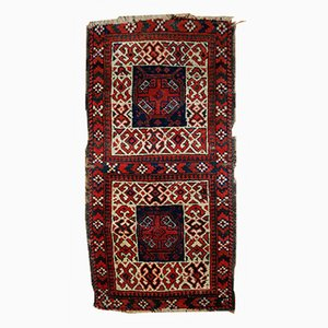 Alfombra Baluch nomádica doble afgana antigua hecha a mano