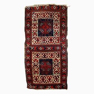Tappeto Bag doppio antico beluci nomade fatto a mano, Afghanistan, fine XIX secolo