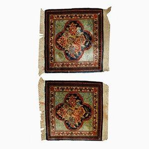 Alfombras de Oriente Medios antiguas, década de 1890. Juego de 2